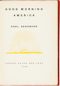 Books:Literature 1900-up, Carl Sandburg. SIGNED/LIMITED. Good Morning America. NewYork: Crosby Gaige, 1928. First edition, limited to 811 num...