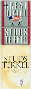 Books:Americana & American History, Studs Terkel. SIGNED. Pair of Signed First Editions. Variouspublishers and dates. Signed by the author. Octavos. Publis...(Total: 2 Items)