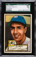 Baseball Cards:Singles (1950-1959), 1952 Topps Phil Rizzuto, Red Back #11 SGC 84 NM 7....
