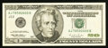 Error Notes:Skewed Reverse Printing, Fr. 2084-J $20 1996 Federal Reserve Note. About Uncirculated.. ...
