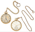 Timepieces:Pocket (post 1900), Two Hamilton's Series 917 Pocket Watches Runners. ... (Total: 2Items)