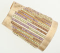 Luxury Accessories:Accessories, Chanel Multicolor Crystal & Gold Cuff Bracelet . ...