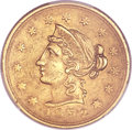 Territorial Gold, 1852 $10 Wass Molitor Ten Dollar, Large Head, Wide Date XF45 PCGS. CAC. K-4, R.5....