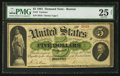 Large Size:Demand Notes, Fr. 3 $5 1861 Demand Note PMG Very Fine 25 Net.. ...