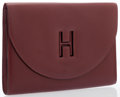 Luxury Accessories:Accessories, Hermes Rouge H Calf Box Leather H Gaine Clutch Bag . ...