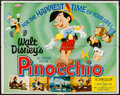 "Movie Posters:Animation, Pinocchio & Other Lot (Buena Vista, R-1962). Half Sheet (22"" X 28"") & Lobby Cards (3) (11"" X 14""). Animation.. ... (Total: 4 Items)"