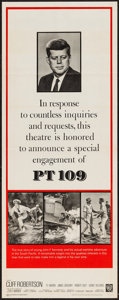 """Movie Posters:War, PT 109 (Warner Brothers, 1963). Special Engagement Insert (14"""" X36""""). War.. ..."""