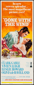"Movie Posters:Academy Award Winners, Gone with the Wind (MGM, R-1968). Insert (14"" X 36""). Academy Award Winners.. ..."