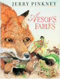 Books:Children's Books, Jerry Pinkney. SIGNED. Aesop's Fables. New York: SeaStarBooks, [2000]. First edition. Signed by the author. Qua...