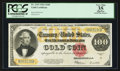 Large Size:Gold Certificates, Fr. 1215 $100 1922 Gold Certificate PCGS Apparent Very Fine 35.....