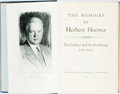 Books:Biography & Memoir, Herbert Hoover. INSCRIBED. The Memoirs of Herbert Hoover.New York: Macmillan, 1952. First edition. Inscribed by t...