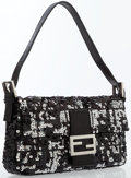 Luxury Accessories:Bags, Fendi Black Sequin Baguette Bag . ...