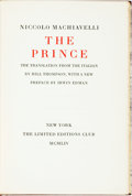Books:Philosophy, [Limited Editions Club]. Niccolo Machiavelli. The Prince. New York: Limited Editions Club, 1954. Edition limited to ...