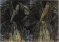 Prints:Contemporary, JIM DINE (American, b. 1935). Two Dark Robes (two sheets),1991. Etching and drypoint with power-tool abrasion and hand-...