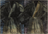 JIM DINE (American, b. 1935) Two Dark Robes (two sheets), 1991 Etching and drypoint with power-tool