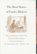 Books:Literature Pre-1900, [Limited Editions Club]. Edward Ardizzone, illustrator. SIGNED.Charles Dickens. The Short Stories of CHarles Dickens. ...