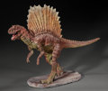 Dinosauria:Casts, LIFELIKE ONE-OF-A-KIND DINOSAUR SCULPTURE - SPINOSAURUS.Artist/Sculptor: John P. Fischner. ...