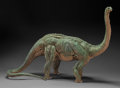 Dinosauria:Casts, LIFELIKE ONE-OF-A-KIND DINOSAUR SCULPTURE - APATOSAURUS. Artist/Sculptor: John P. Fischner. ...