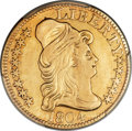 Early Half Eagles, 1804 $5 Small 8 -- Smoothed -- PCGS Genuine. AU Details. BD-1, HighR.4....