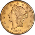 1885-CC $20 -- Obverse Improperly Cleaned -- NCS. Unc. Details. Variety 1-A....(PCGS# 9004)