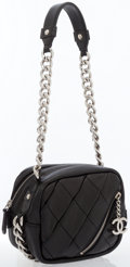 Luxury Accessories:Bags, Chanel Black Lambskin Leather Mini Shoulder Bag . ...