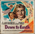 "Movie Posters:Musical, Down to Earth (Columbia, 1947). Six Sheet (79"" X 80""). Musical.. ..."