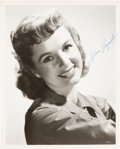 Movie/TV Memorabilia:Autographs and Signed Items, A Debbie Reynolds Signed Black and White Photograph, Circa 1950s....