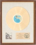 Music Memorabilia:Awards, 2001: A Space Odyssey Soundtrack RIAA Gold Record Award (MGM1E-13 ST, 1968). ...