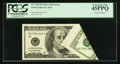Error Notes:Foldovers, Fr. 2182-B $100 2006A Federal Reserve Note. PCGS Extremely Fine45PPQ.. ...