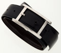 Luxury Accessories:Accessories, Cartier Black & Brown Reversible Leather Belt. ...