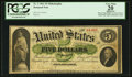 Large Size:Demand Notes, Fr. 2 $5 1861 Demand Note PCGS Apparent Very Fine 20.. ...