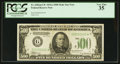 Fr. 2202-G* $500 1934A Mule Federal Reserve Note. PCGS Very Fine 35