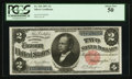 Large Size:Silver Certificates, Fr. 246 $2 1891 Silver Certificate PCGS About New 50.. ...