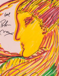 Pin-up and Glamour Art, PETER MAX (American, b. 1937). Profile of a Woman. Marker onpaper. 9.5 x 7.5 in. (sight). Signed upper left. ...