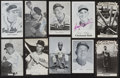 Baseball Collectibles:Others, Baseball Greats Signed Postcards Lot of 10....