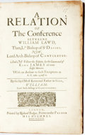Books:Religion & Theology, [William Lawd]. A Relation of the Conference between William Lawd...and Mr. Fisher the Jesuit. London: Richard Badge...