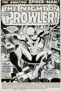 John Buscema and Jim Mooney Amazing Spider-Man #78 Splash Page 1 Original Art (Marvel, 1969)