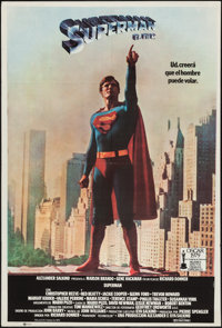 "Superman the Movie (Warner-Columbia, 1979). Argentinean Poster (29"" X 43""). Action"