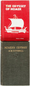Books:Literature Pre-1900, Two Translations of Homer's Odyssey. Henry I. Christ, translator.Homer. The Odyssey of Homer. New York: Globe Book ...(Total: 2 Items)
