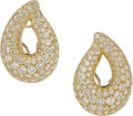 Estate Jewelry:Earrings, Kalich Diamond, Platinum, Gold Earrings. ...