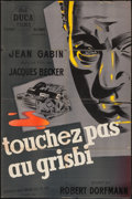 """Movie Posters:Crime, Grisbi (Del Duca, 1954). Trimmed French Affiche (30"""" X 45"""").Crime.. ..."""