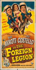 """Movie Posters:Comedy, Abbott and Costello in the Foreign Legion (Universal International,1950). Three Sheet (41"""" X 79""""). Comedy.. ..."""