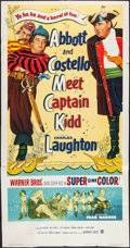 "Movie Posters:Comedy, Abbott and Costello Meet Captain Kidd (Warner Brothers, 1953). Three Sheet (41"" X 78""). Comedy.. ..."