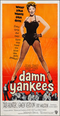 "Movie Posters:Musical, Damn Yankees! (Warner Brothers, 1958). Three Sheet (41"" X 79""). Musical.. ..."