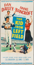 "Movie Posters:Sports, The Kid from Left Field (20th Century Fox, 1953). Three Sheet (41"" X 79""). Sports.. ..."