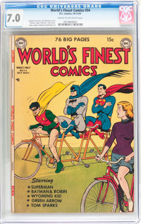 World's Finest Comics #54 (DC, 1951) CGC FN/VF 7.0 Cream to off-white pages