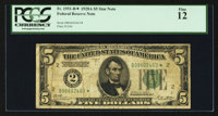 Fr. 1951-B* $5 1928A Federal Reserve Star Note. PCGS Fine 12