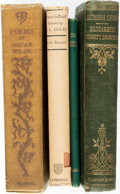 Books:Literature Pre-1900, [Poetry]. Four Books of Poetry. Various publishers and dates.Includes two first editions. Twelvemos. Publisher's cloth bind...(Total: 4 Items)