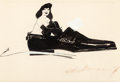 Mainstream Illustration, LEROY NEIMAN (American, 1921-2012). Femlin in Shoe, 1957.Ink and gouache on paper. 7.75 x 11.25 in. (sight). Signed and...