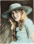 Movie/TV Memorabilia:Photos, A Mary Pickford Beautiful Color-Tinted Black and White Photograph by Evans, Circa 1920s....